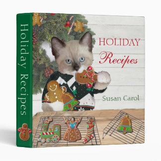 Christmas Cookie Kitten Personalized Recipe Binder