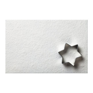 Christmas Cookie Mold In Shape Of Star Canvas Print