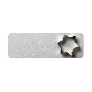 Christmas Cookie Mold In Shape Of Star Label