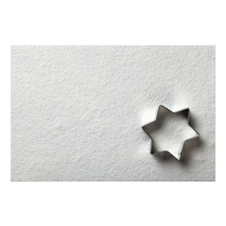 Christmas Cookie Mold In Shape Of Star Photographic Print