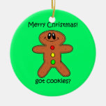 Christmas cookie Double-Sided ceramic round christmas ornament