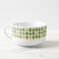 Christmas cookie pattern soup mug