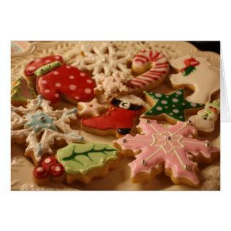 Christmas cookie recipe card