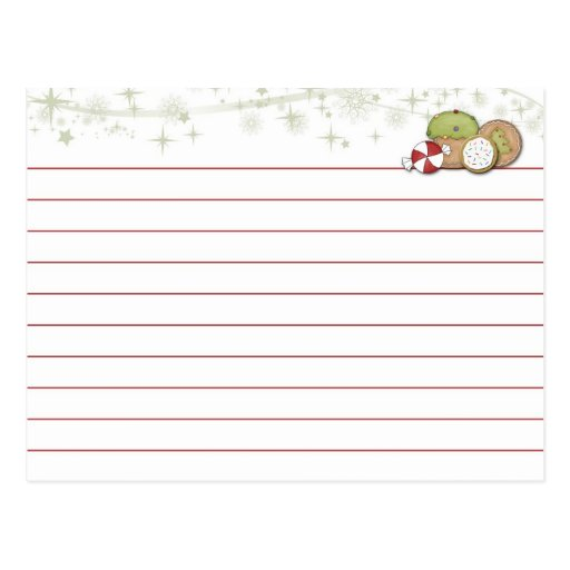 christmas recipe card