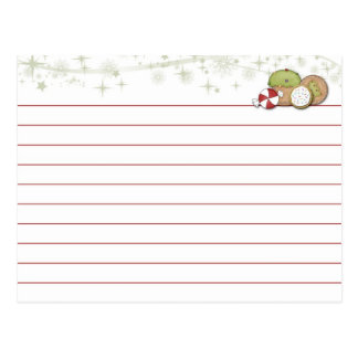 Christmas Cookie Recipe Card Post Cards