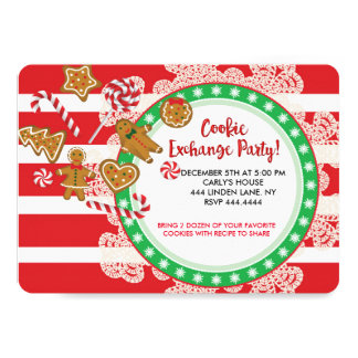 Christmas Cookie Swap Exchange Party Card