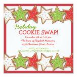 "Christmas Cookie Swap Holiday Invitation 5.25"" Square Invitation Card"