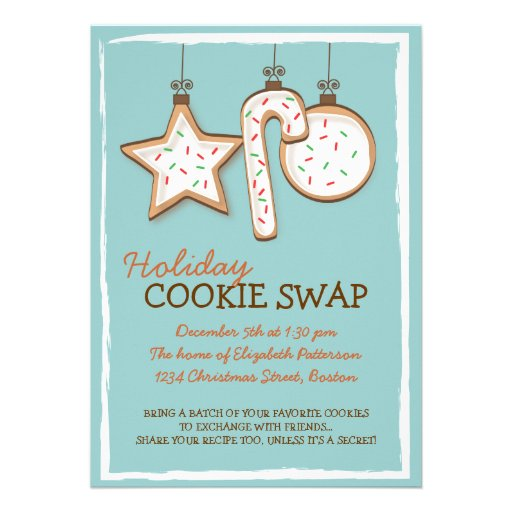 Christmas Cookie Swap Holiday Invitation