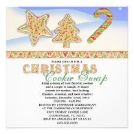 Christmas Cookie Swap Holiday Party Personalized Announcements
