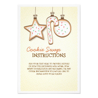 Christmas Cookie Swap Instruction Card