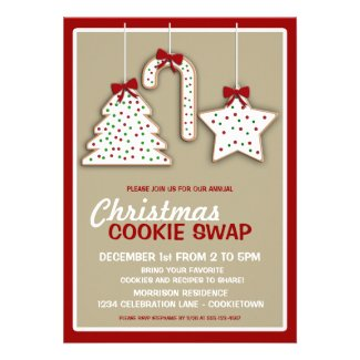 Christmas Cookie Swap (nuetral) Party Invitation