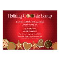 Christmas Cookie Swap Party Custom Invitations