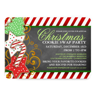 Christmas Cookie Party Invite.Christmas Cookie Swap Party Invitation