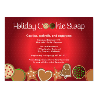 Christmas Cookie Swap Party 4.5x6.25 Paper Invitation Card
