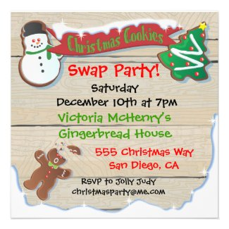Christmas Cookie Swap Party Invitation