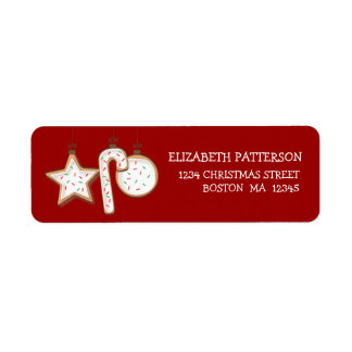 Christmas Cookie Yummy Address Labels