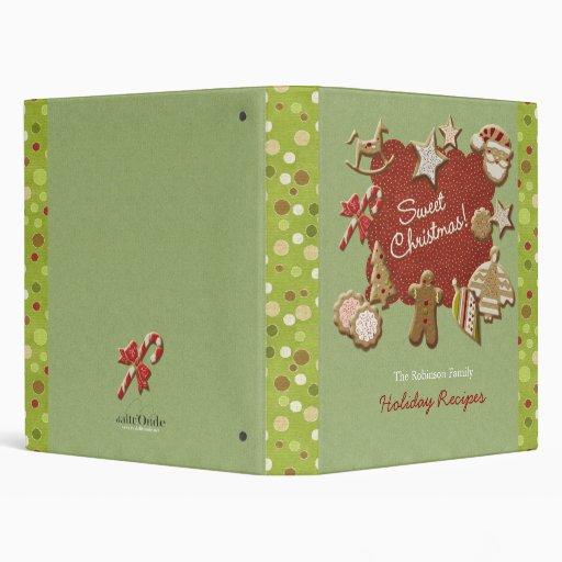 Christmas cookies 3 ring binder