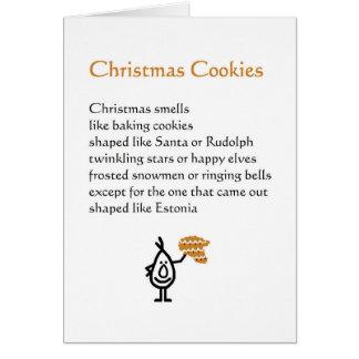 Christmas Cookies - a funny Christmas poem Card