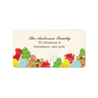 Christmas Cookies Address Labels