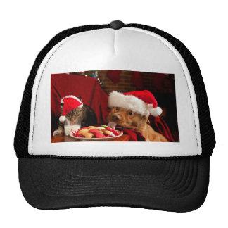 Christmas Cookies and Milk Puppy Trucker Hat