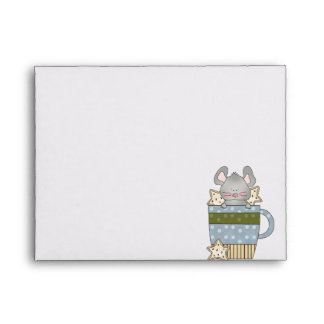 christmas cookies and mouse mug cup envelope