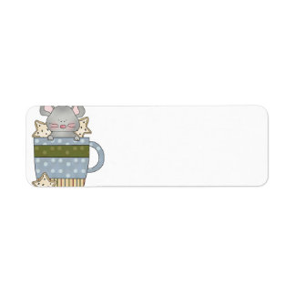 christmas cookies and mouse mug cup return address labels