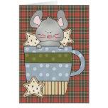 christmas cookies and mouse mug greeting card
