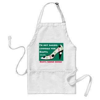 Christmas Cookies and Shoes with Santa Adult Apron