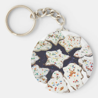 Christmas Cookies Basic Round Button Keychain