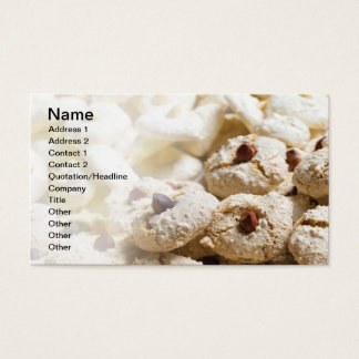 Christmas cookies business card