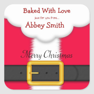 Christmas Cookies, Candy, & Treats, Santa Stickers