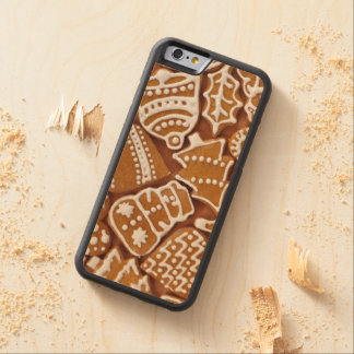 Christmas Cookies Carved Maple iPhone 6 Bumper Case