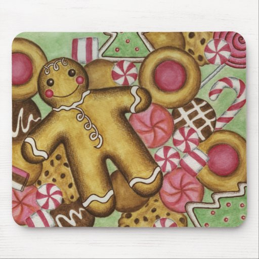 Christmas Cookies Close Up Mousepad