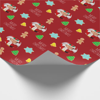 Christmas Cookies Custom Photo Wrapping Paper