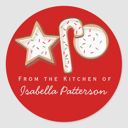 Christmas Cookies From the Kitchen Sticker Red