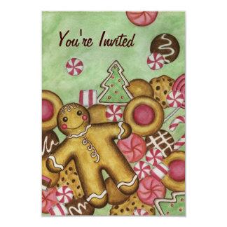 Christmas Cookies Gingerbread Invitations