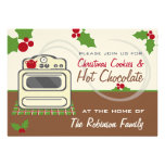 Christmas Cookies & Hot Chocolate Party Retro Invite