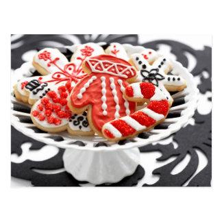 Christmas cookies in modern colors postcard