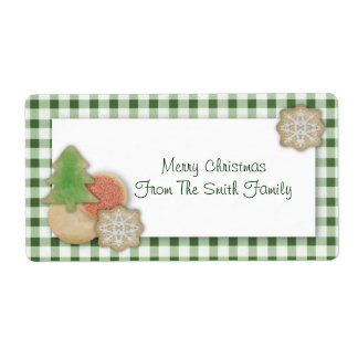 Christmas Cookies Label