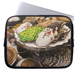 Christmas cookies on display in a New York city Laptop Sleeve