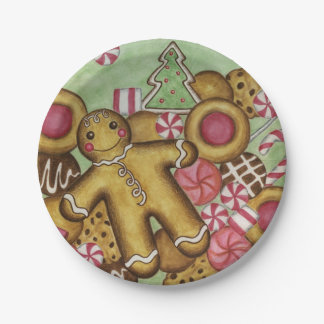 Christmas Cookies Party Holiday Paper Plates
