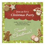 Christmas cookies personalized invitation