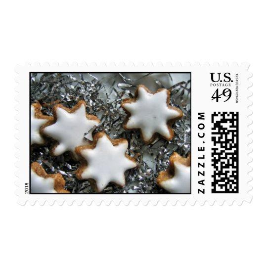 christmas cookies postage stamp