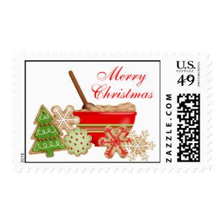 Christmas Cookies Postage Stamps
