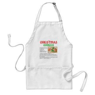 Christmas Cookies Recipe Adult Apron