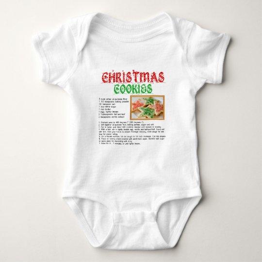 Christmas Cookies Recipe Baby Bodysuit