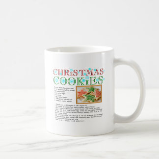 Christmas Cookies Recipe Coffee Mug