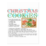 Christmas Cookies Recipe Post Cards