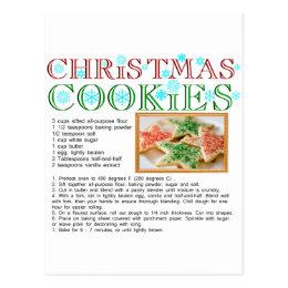 Christmas Cookies Recipe Postcard