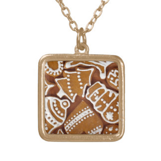 Christmas Cookies Square Pendant Necklace